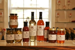 Seven Spring's Farm & Winery's specialty food items.